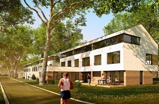 Die neue Siedlung im Modell: 2013 sollen die neuen Bewohner einziehen können. Foto: SWSG