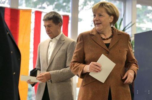 Kanzlerin Merkel hat gewählt