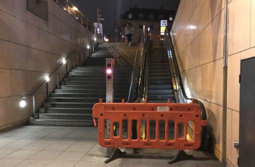 Rolltreppe seit fünf Monaten defekt
