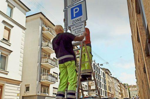 Der Weg zum  Anwohnerparken ist lang