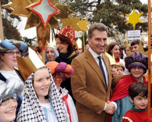 Sternsinger bei Oettinger