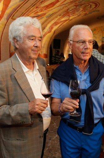 Fitz Scherer (links) und Franz Beckenbauer.  Foto: Getty Iamges/DFB/Handout
