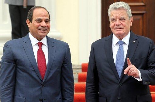 Umstrittener Gast bei Gauck