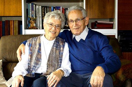Annemarie und Siegfried Kees sind seit 60 Jahren miteinander verheiratet und stolz auf die Familie Foto: Margret Rilling