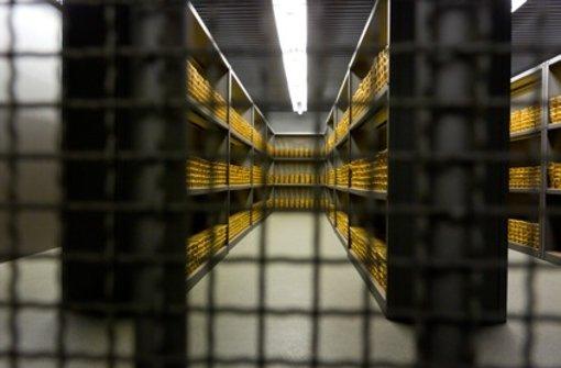 Deutschland verfügt über die weltweit zweitgrößten Goldreserven – etwas  mehr als ein Drittel der rund 3400 Tonnen deutscher Goldreserven lagert die Bundesbank nach eigenen Angaben in eigenen Räumen in Frankfurt. Foto: Bundesbank/Darchinger