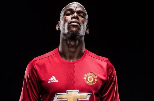 Paul Pogba im Trikot seines neuen Arbeitgebers: Manchester United Foto: Manchester United