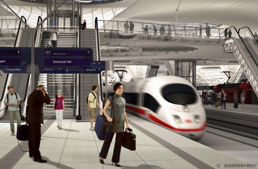 Der Stuttgarter Tiefbahnhof. Foto: Visualisieung Aldinger & Wolf