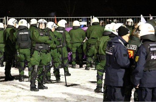 Klicken Sie sich durch unsere Bildergalerie vom Polizeieinsatz in Pforzheim Foto: dpa