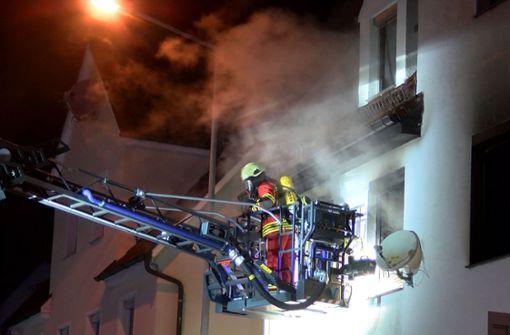 Am Dienstagvormittag ist es in Geislingen zu einem schweren Brand gekommen. Foto: SDMG