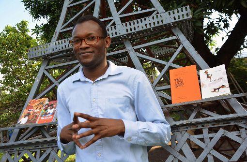"""Zu Gast in Stuttgart: der Kongolese Fiston Mwanza Mujila, Autor von """"Tram 83"""" Foto: AFP"""