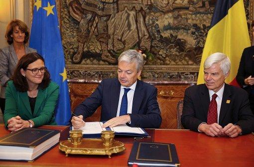 Belgien hat Handelsabkommen Ceta unterzeichnet