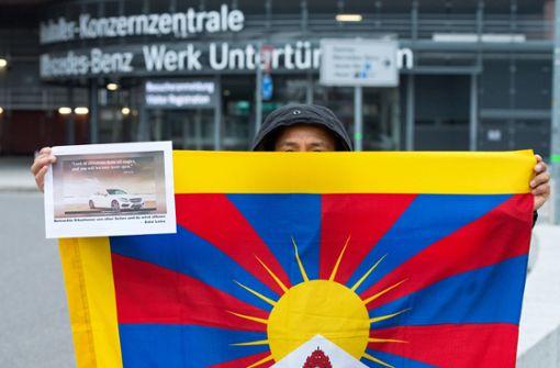 Die Demonstranten hätten sich gewünscht, dass Daimler vor China nicht eingeknickt wäre.  Foto: Lichtgut - Oliver Willikonsky