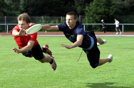 Der Kick mit der fliegenden Scheibe