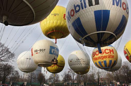 Ballone sollen zur Wettfahrt starten
