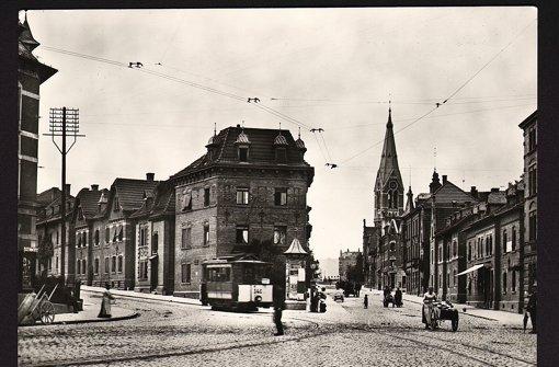 Ostendstraße/Landhausstraße  im Jahr 1907 Foto: StN