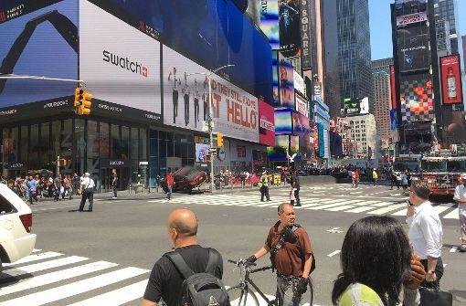 """Die Feuerwehr sprach von einem """"Verkehrsunfall"""". Foto: AFP"""