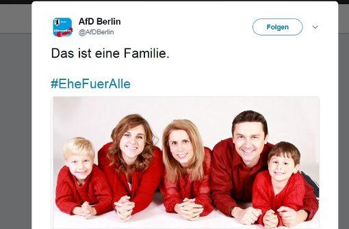AfD wird auf Twitter für Familienbild verspottet
