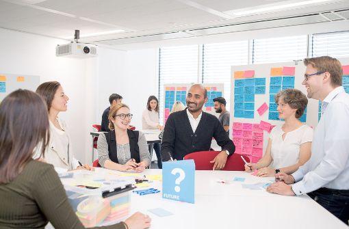 Offene Kommunikation, Kreativität und Projektarbeit – ein Blick in den Arbeitsalltag auf dem IT-Campus von Bosch in Stuttgart-Feuerbach. Foto: Bosch