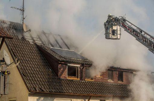 Großbrand zerstört Einfamilienhaus