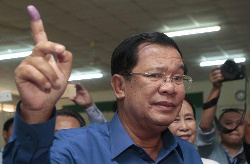 Kambodschas Premier Hun Sen möchte nicht von der Macht lassen. Foto: AP