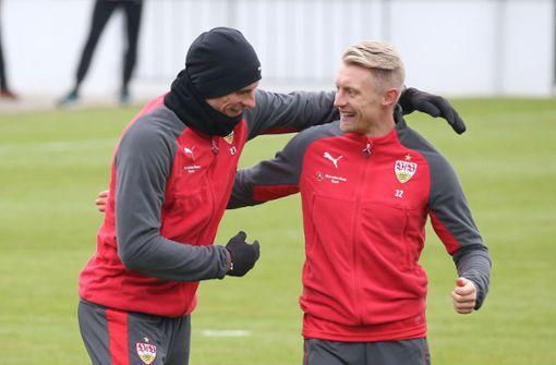 Hoher Spaßfaktor im VfB-Training