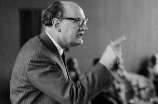 Als glänzender Redner ist Eugen Eberle vielen Stuttgartern in Erinnerung. Foto: Archiv-Foto: Engel