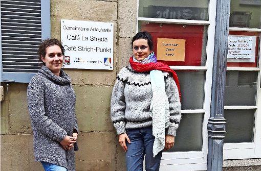 Charlotte Brunner (links) und Justyana Koeke unterstützen Prostituierte. Foto: Eva Funke