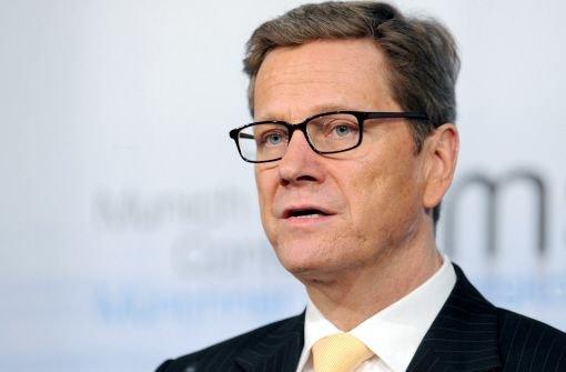 Bundesaußenminister Guido Westerwelle (FDP) Foto: dpa