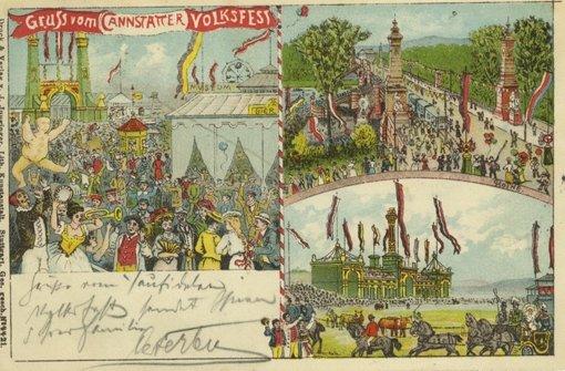 Eine weitere Postkarte vom Ende des 19. Jahrhunderts auf dem Wasen. Foto: Archiv Wager