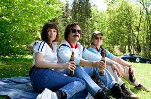 Elke (Julia Koschitz), Wastl (Jan Josef Liefers) und Stefan (Thomas Huber) vor dem Skandal Foto: ZDF/Jürgen Olczyk