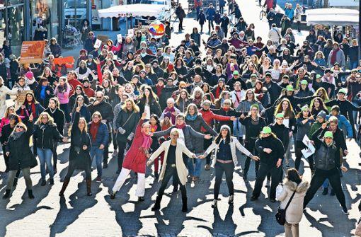 """""""Für ein friedliches Miteinander"""", lautet die Botschaft der Kundgebung. Foto: Horst Rudel"""