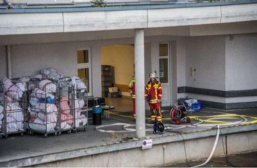 Feuerwehr rückt zu Brand in Filderklinik aus