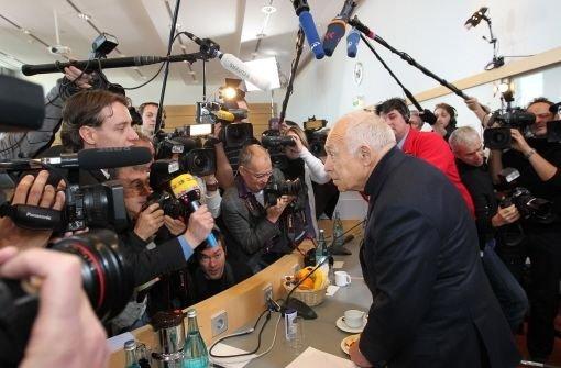 Heiner Geißler bei der Schlichtung Foto: Kraufmann