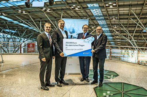 Flughafen Stuttgart fördert das elektrische Fliegen