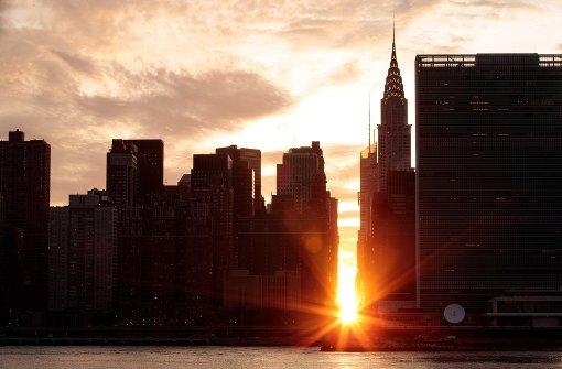 Wenn Manhattan im Abendlicht versinkt