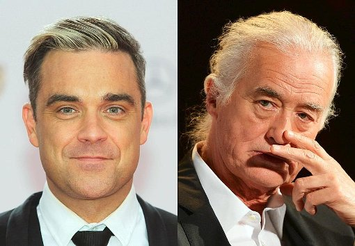 Robbie Williams zankt mit Jimmy Page