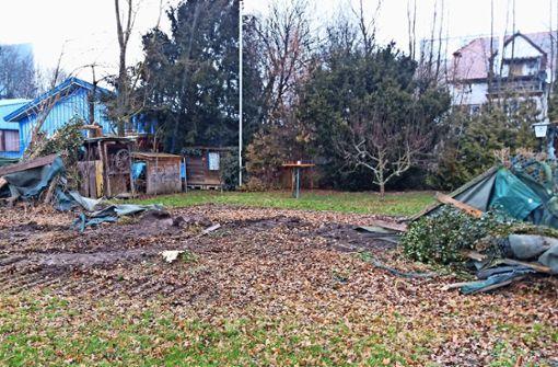 So hat es ausgesehen, nachdem am 15. Februar schweres Gerät in den privaten Garten gerollt ist. Foto: