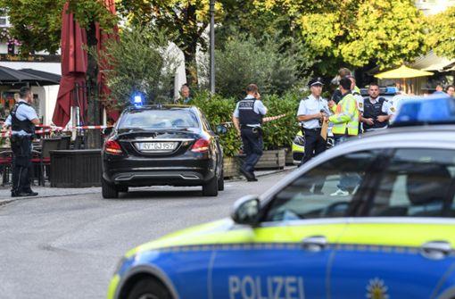 Weiter mehr Polizisten in der Innenstadt im Einsatz