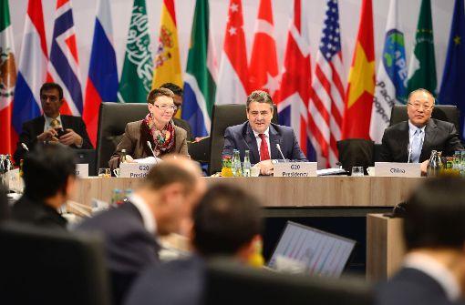 Bundesaußenminister Sigmar Gabriel appelliert auf dem G20-Treffen in Bonn zur Kooperation statt zur Abschottung. Foto: AFP