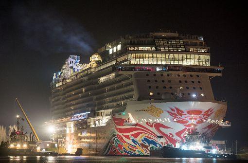 Mega Kreuzfahrtdampfer nimmt Kurs auf die Nordsee