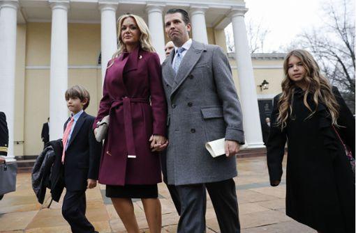 Donald Trump Junior, ältester Sohn des US-Präsidenten, und seine Frau Vanessa wollen sich scheiden lassen. Foto: AP
