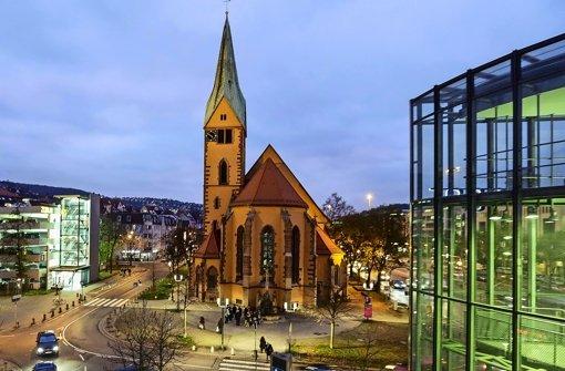 Die Leonhardkirche wird vom 18.Januar bis zum 7. März wieder zur Vesperkirche Foto: Leif Piechowski