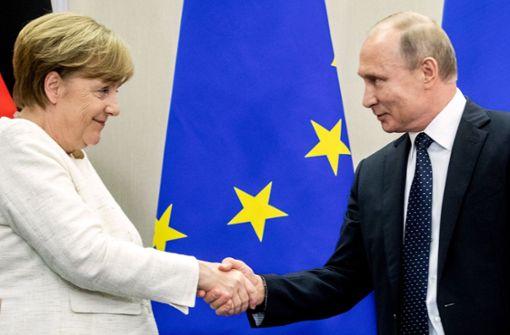 Merkel hofft auf Bewegung Putins
