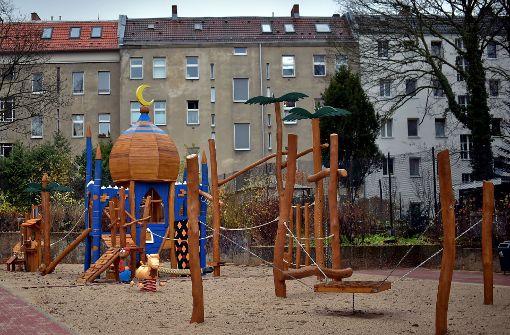 """Der """"Ali Baba""""-Spielplatz ist in Neukölln eröffnet worden. Foto: dpa"""