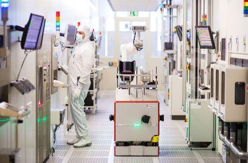 Bosch baut in Deutschland eine zweite Fabrik für die Halbleiterfertigung. Neben dem Standort Reutlingen (im Bild) wird ein Werk in Dresden gebaut. Foto: dpa
