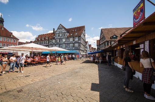 Am Montag wirkt das Stadtfest in Schorndorf, als sei nie etwas gewesen. Foto: dpa