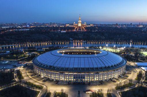 Im Olympiastadion Luschniki in Moskau werden das Eröffnungsspiel und das Finale der Fußball-Weltmeisterschaft 2018 angepfiffen. Foto: dpa