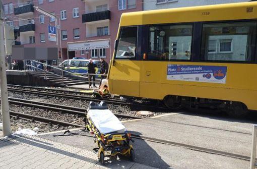 Mann bei Stadtbahn-Unfall schwer verletzt