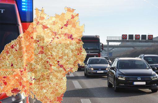 Autobahnen gelten als besonders sichere Straßenform. Aber sie sorgen auf dem Land für steigende Unfallzahlen. Foto: Rosar / Montage StZN
