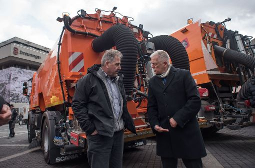 Stuttgart sagt Feinstaub durch Putzen den Kampf an